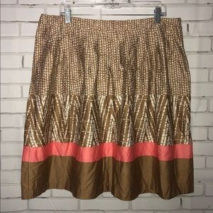 George Skirts - NEW tan printed skirt sz 16